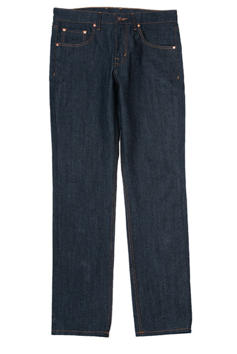 Dynami Raw Slim Straight Fit Indigo Denim Jeans - Denim Jeans - denimkratos