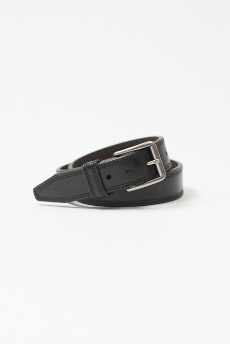 Memphis Black Leather Belt - Belts - denimkratos