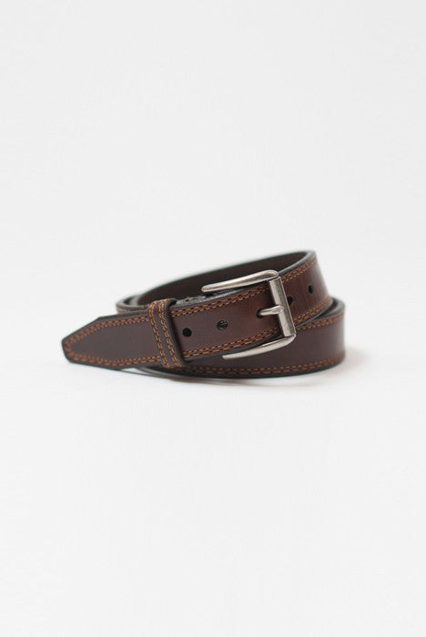 Memphis Brown Leather Belt - Belts - denimkratos