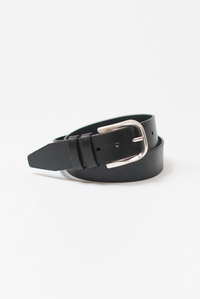 Silver Bullet Black Leather Belt - Belts - denimkratos