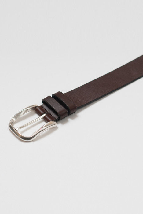 Silver Bullet Brown Leather Belt - Belts - denimkratos