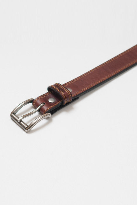 Rough Rider Burgundy Leather Belt - Belts - denimkratos