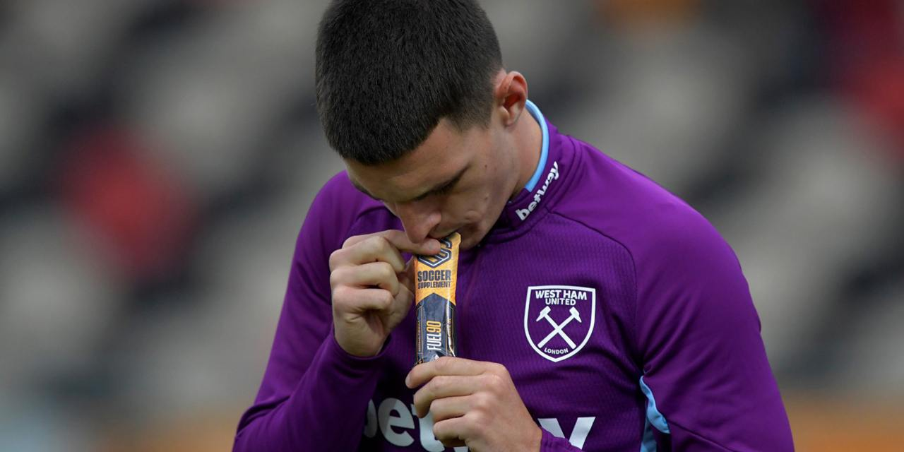 Declan Rice, Football supplements, Energy Gel, Protein, Vitamins, Drinks