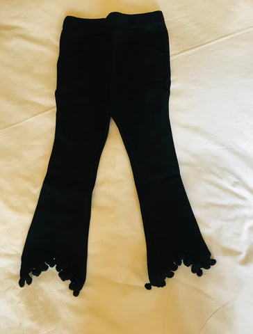 Black tassle pants