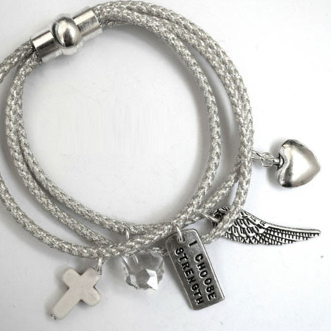 Happiness Tri-Rope Charm Bracelet