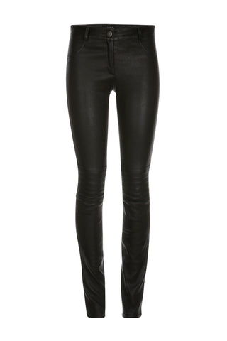 Zahra Biker Stretch Pants in Black