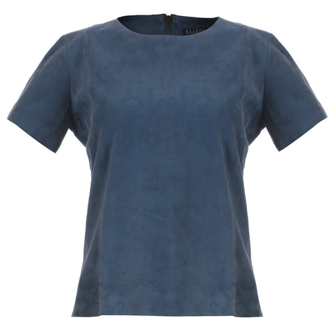 Sky Blue Suede T-Shirt