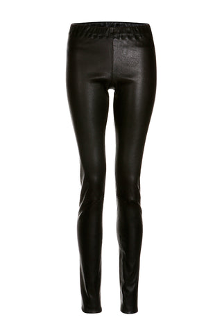 Classic Leather Leggings in Black
