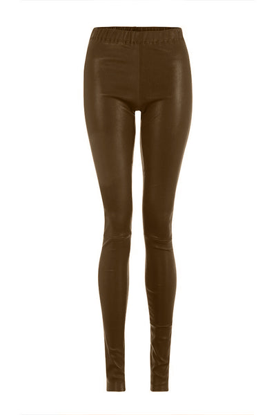 Light Brown Leather Leggings