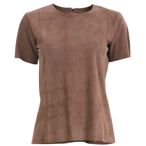 Taupe Suede T-Shirt