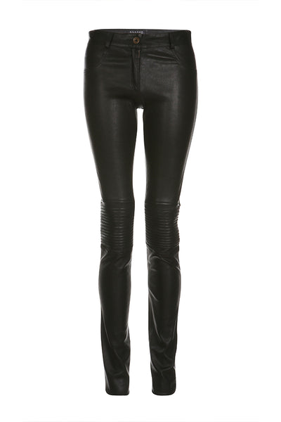 Flora Biker Stretch Pants in Black