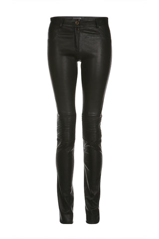 Black Flora Stretch Pants