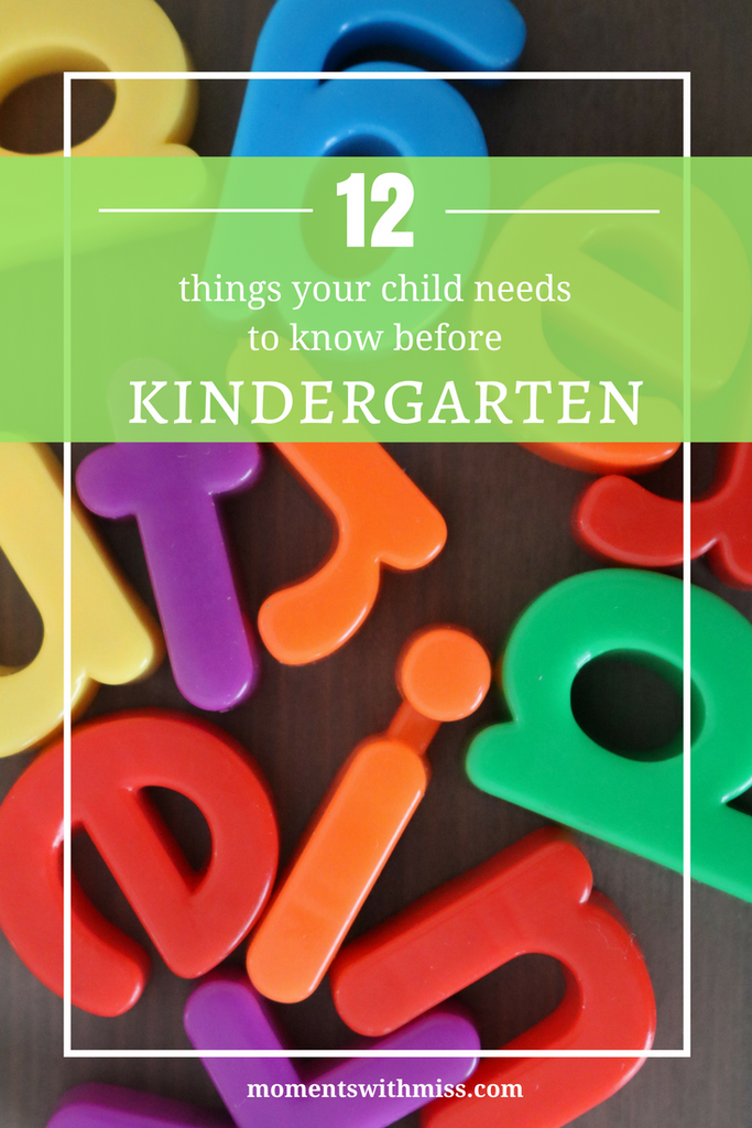 12 Things Your Child Should Know Before Kindergarten