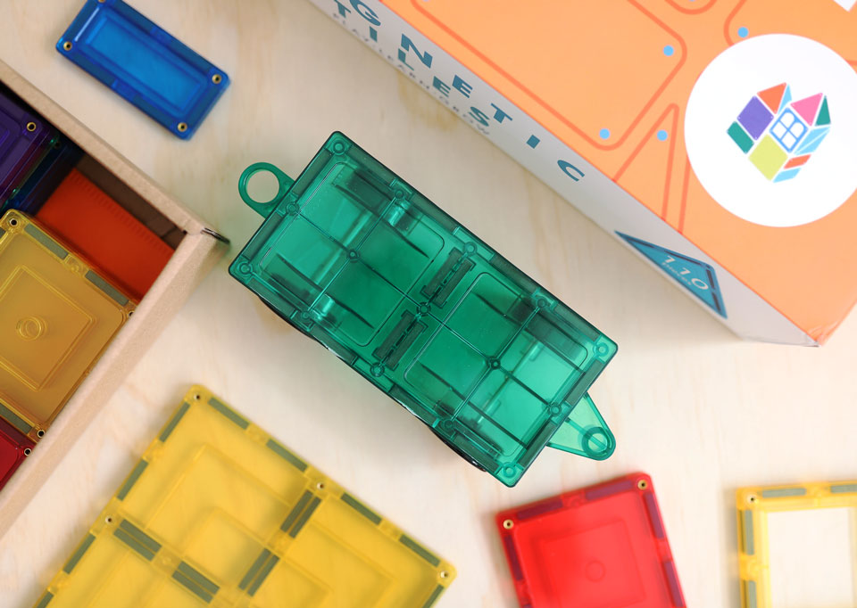 Learn & Grow Magnetic Tiles - 110 piece set