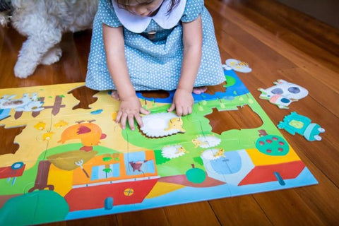 Tactile Farm Puzzle - Notes From a Home Educator