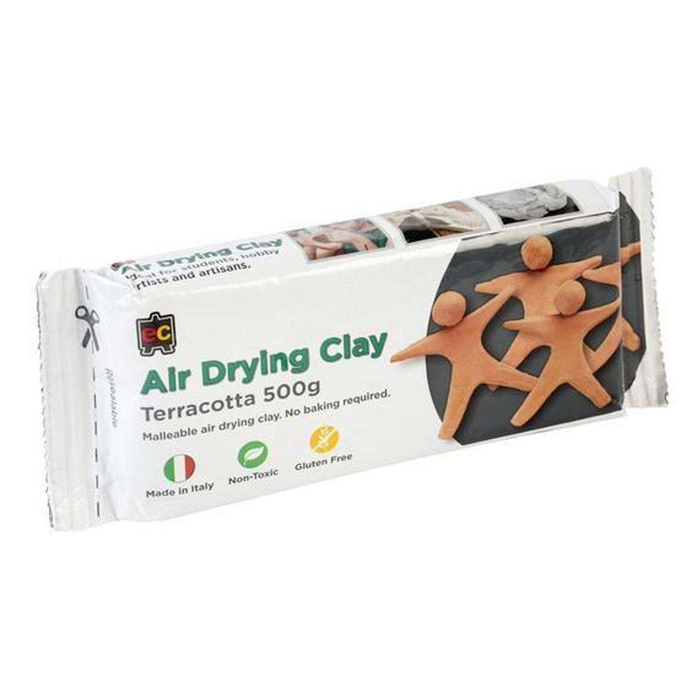 Air Drying Clay Terracotta 500g-Clay-The Creative Toy Shop
