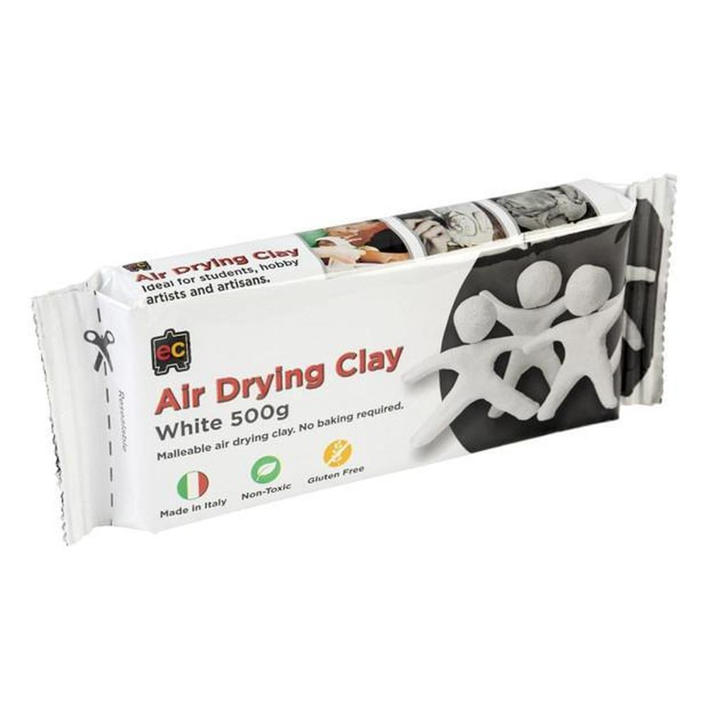Air Drying Clay White 500g-Clay-The Creative Toy Shop