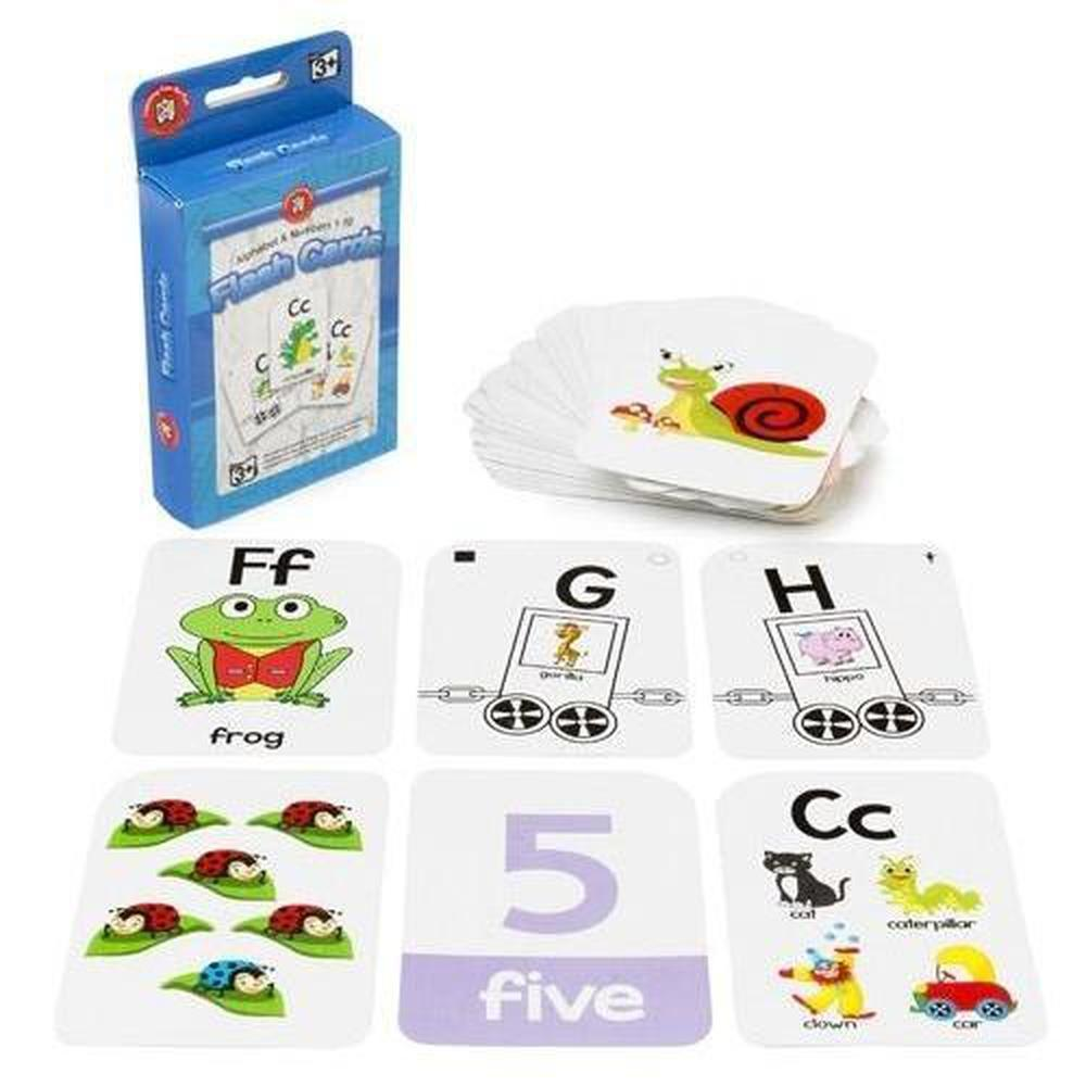 Alphabet and Numbers 1-10 Flashcards - Learning Can Be Fun - The Creative Toy Shop