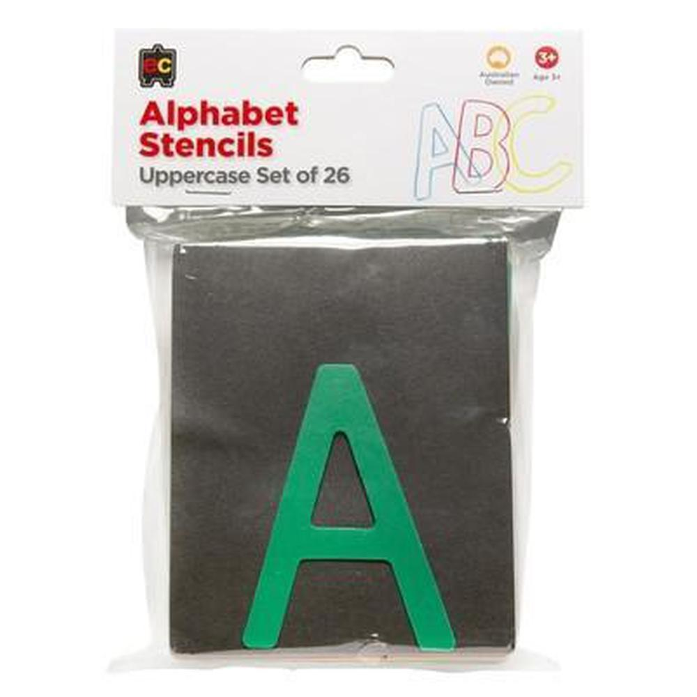 Alphabet Writing Upper Case Stencil set of 26-Stencils-The Creative Toy Shop
