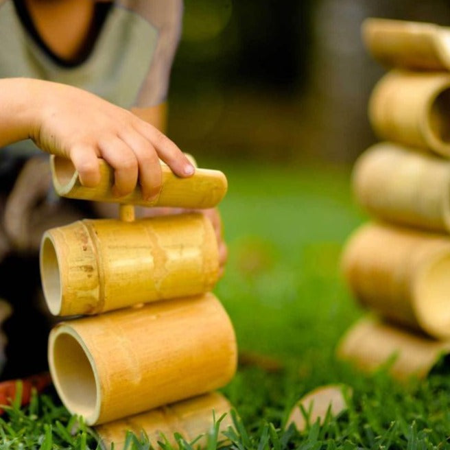 Bamboo Construct and Roll - Ball Run - Explore Nook - The Creative Toy Shop
