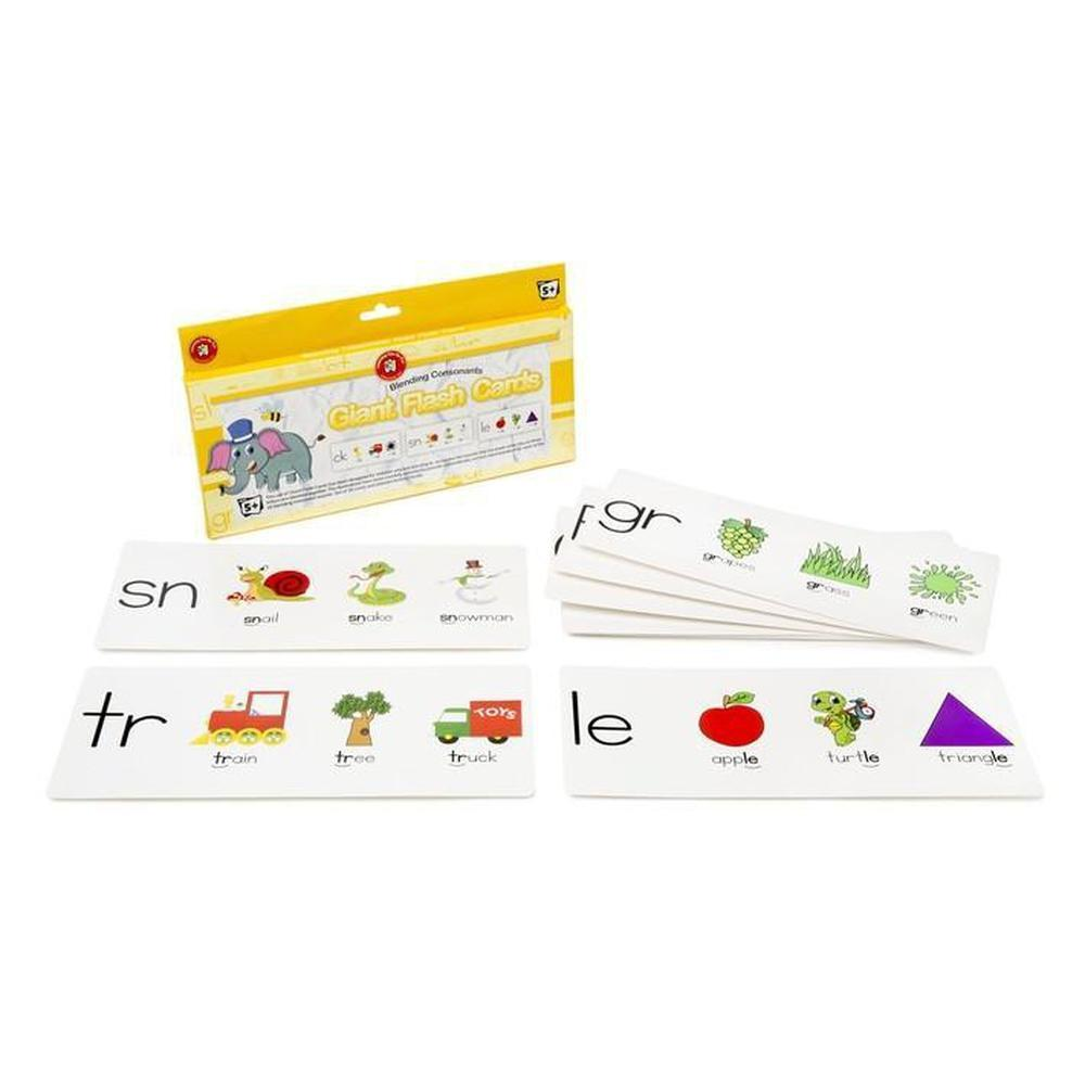 Blending Consonants Giant Flashcards - Learning Can Be Fun - The Creative Toy Shop