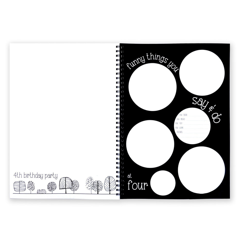 Blueberry Co - Monochrome Baby Book-The Creative Toy Shop