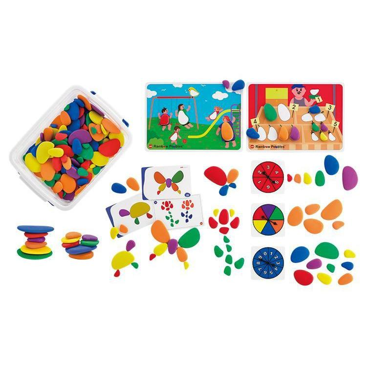 Building Rainbow Pebble Classroom Mega Set - Edx Education - The Creative Toy Shop