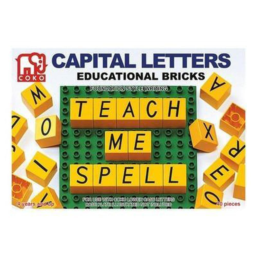 Coko Capital Letters Educational Bricks-Reading-The Creative Toy Shop