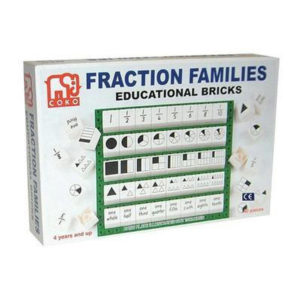 Coko Fraction Families 40 Pieces-Numbers-The Creative Toy Shop