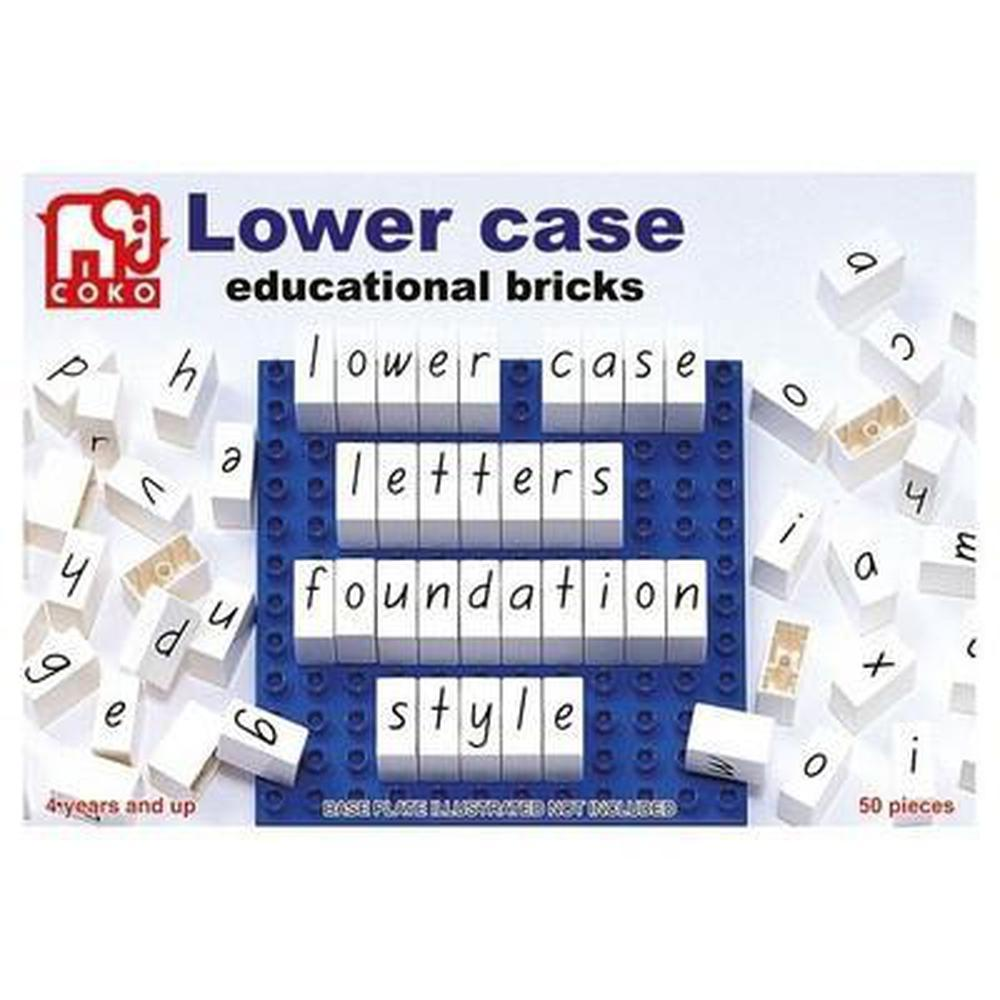 Coko Lower Case Educational Bricks-Reading-The Creative Toy Shop
