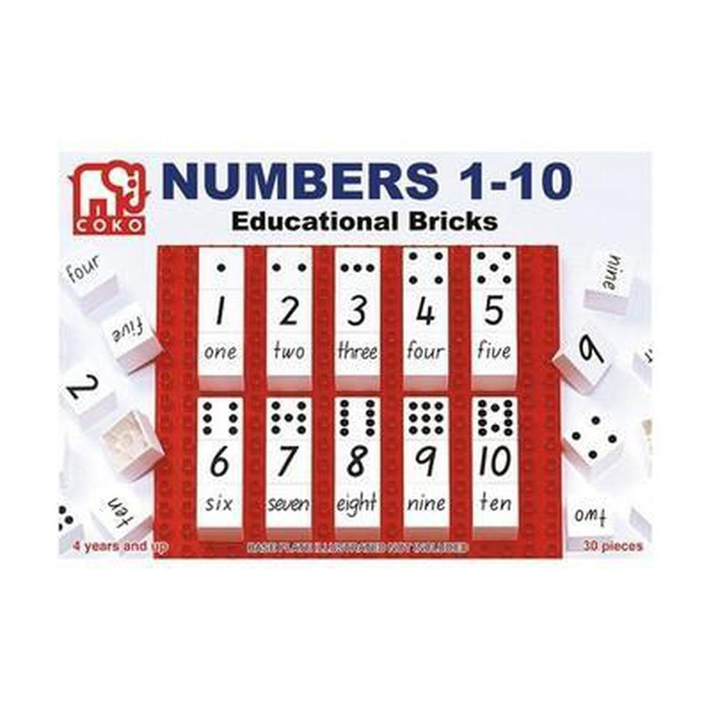 Coko Numbers 1-10 Educational Bricks-Numbers-The Creative Toy Shop