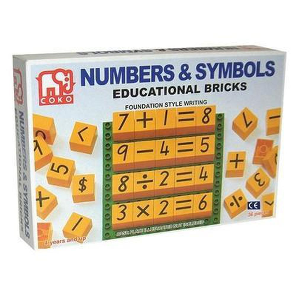Coko Numbers and Symbols Educational Bricks-Numbers-The Creative Toy Shop
