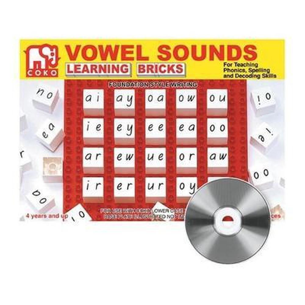 Coko Vowel Sounds Educational Bricks-Reading-The Creative Toy Shop