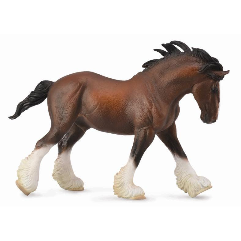 CollectA - Charlie the Clydesdale Stallion Bay-The Creative Toy Shop