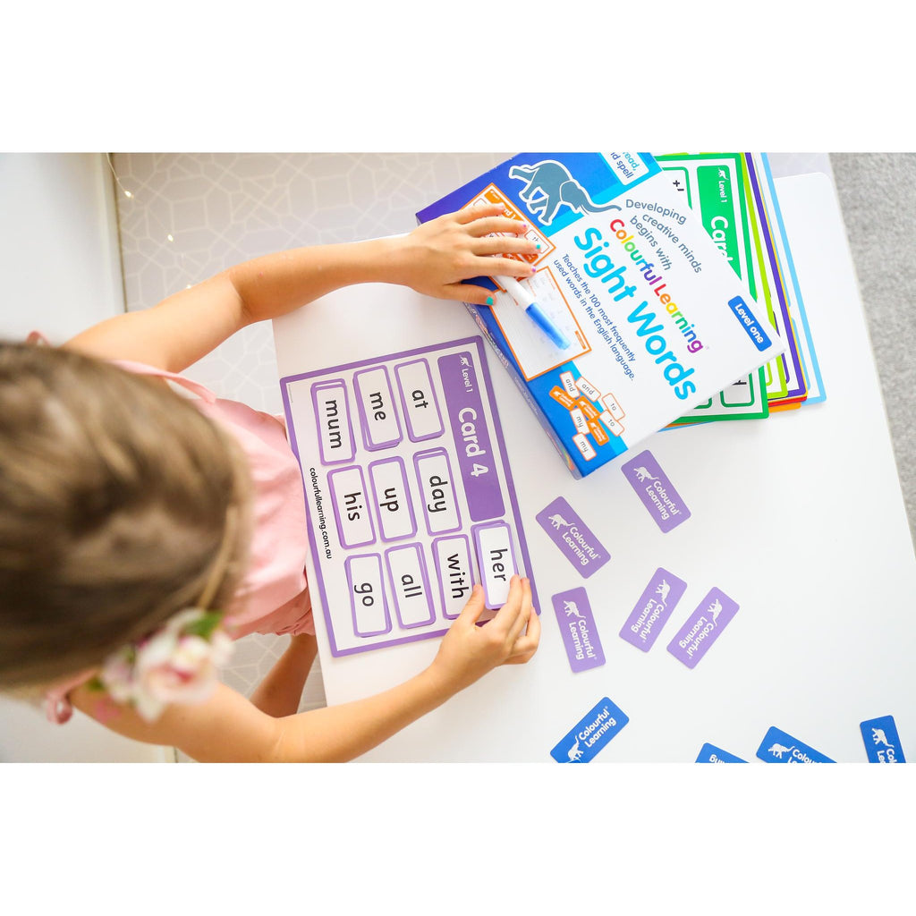 Colourful Learning Sight Word Game Level 1-Reading-The Creative Toy Shop