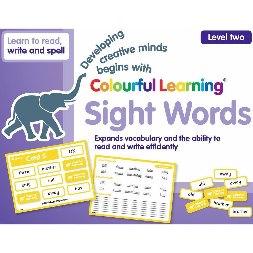 Colourful Learning Sight Word Game Level 2-Reading-The Creative Toy Shop
