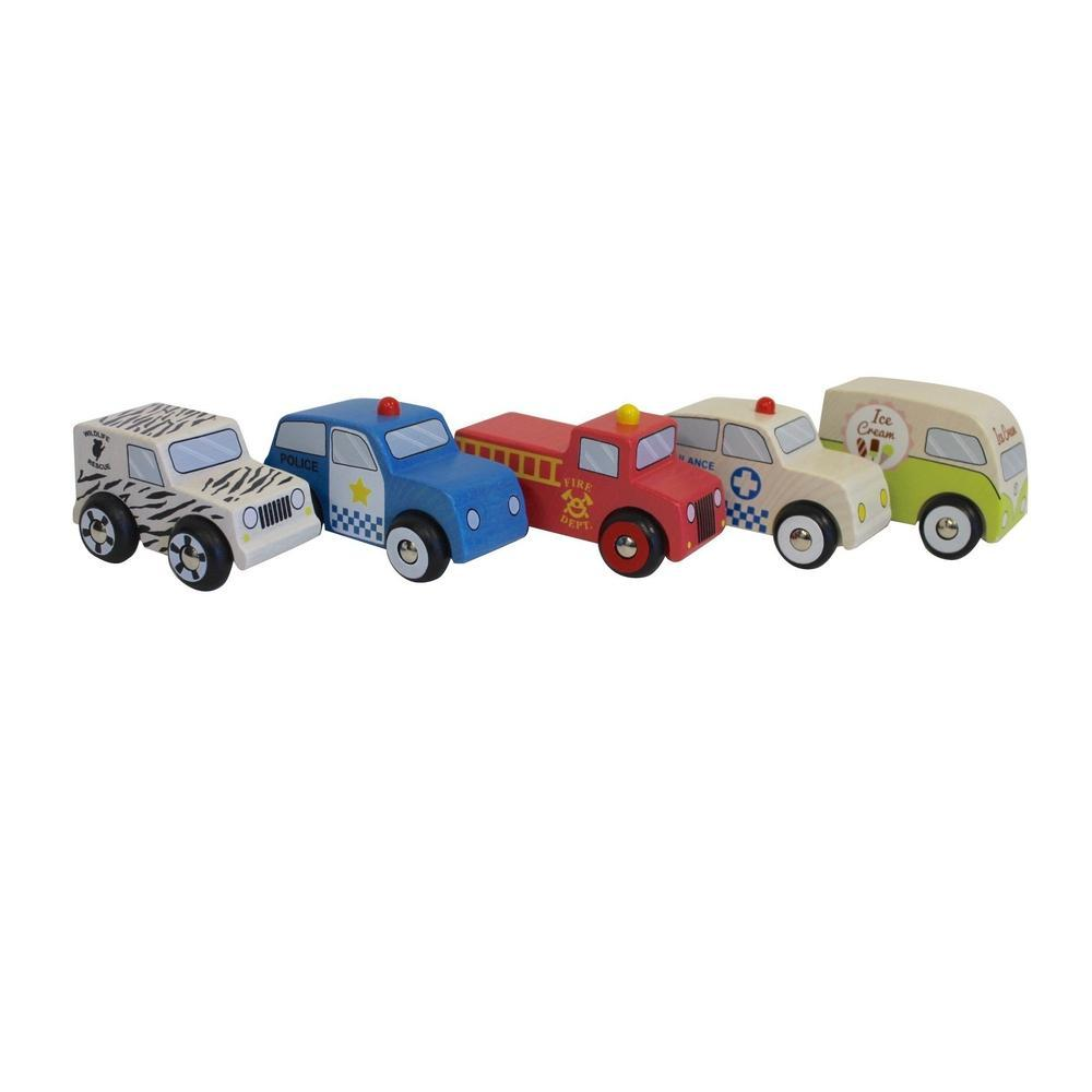 Discoveroo Emergency 5 Wooden Car Set - Discoveroo - The Creative Toy Shop