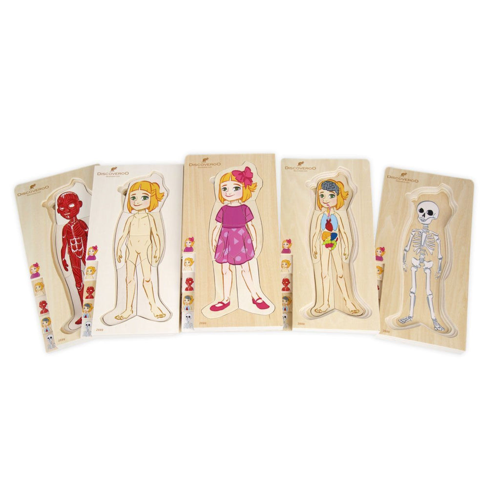Discoveroo Girl Layer Puzzle-Wooden puzzles-The Creative Toy Shop