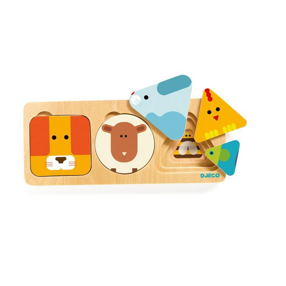 Djeco AnimaBasic Puzzle-Wooden puzzles-The Creative Toy Shop