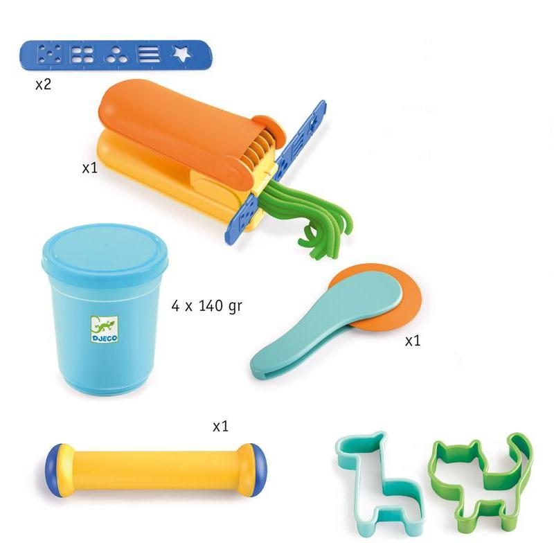 Djeco Everything You Need To Start Modelling Dough Set-DJECO-The Creative Toy Shop