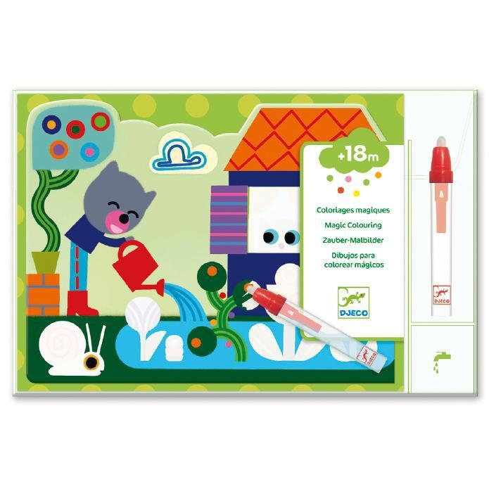 Djeco Hidden In the Garden Water Colouring - DJECO - The Creative Toy Shop