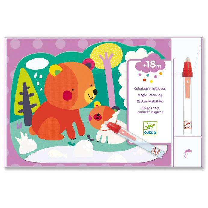 Djeco Hidden In the Woods Water Colouring-The Creative Toy Shop