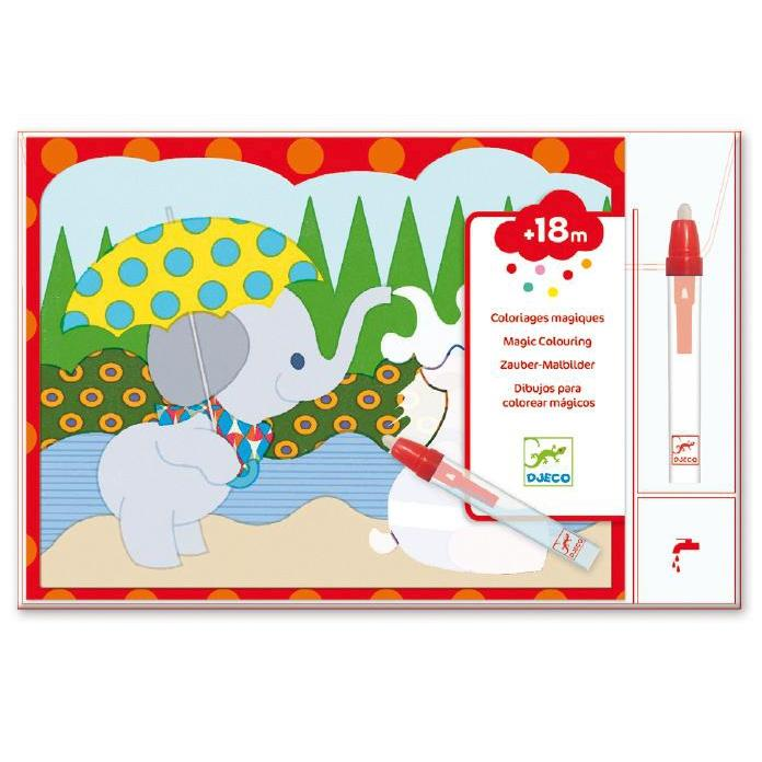 Djeco Hidden Outside Water Colouring - DJECO - The Creative Toy Shop