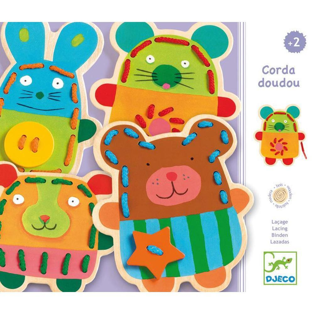 Djeco Wooden Game Cuddly Lacing-fine motor-The Creative Toy Shop