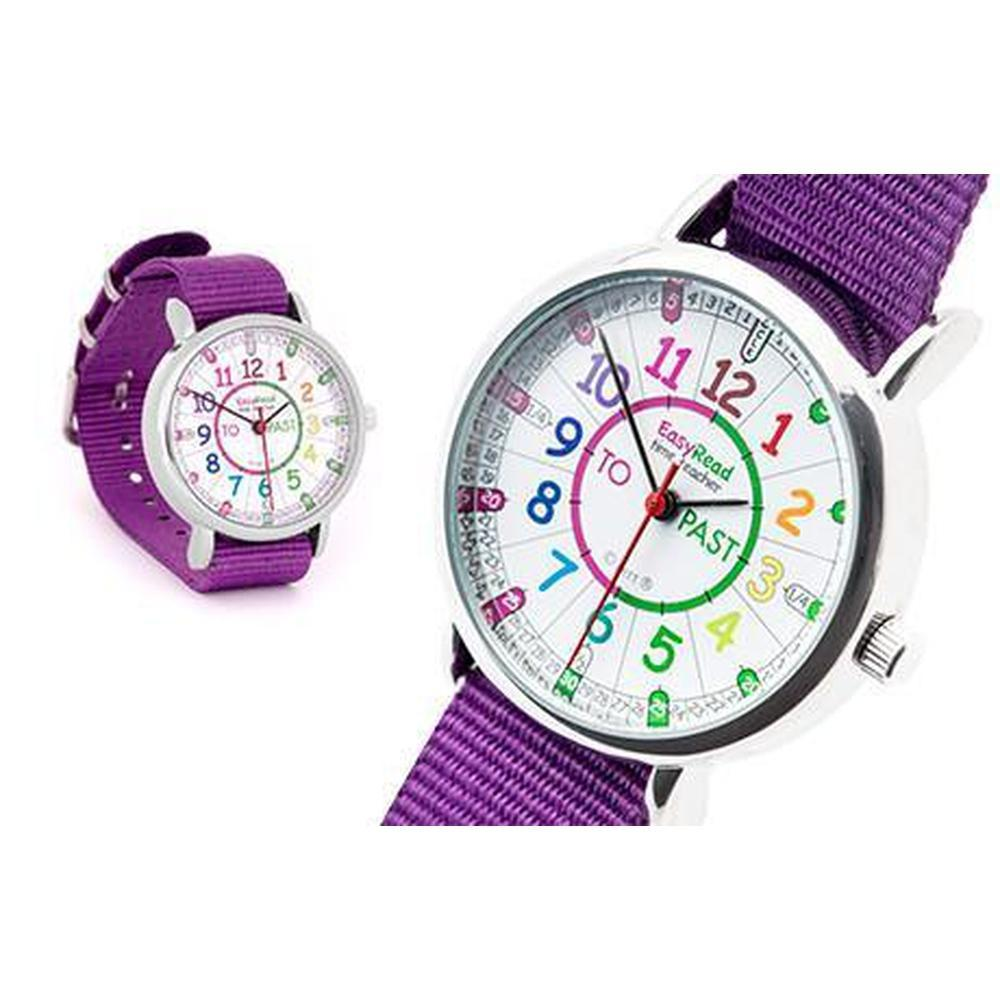 Easy Read Watch Purple Strap - Rainbow-Time-The Creative Toy Shop