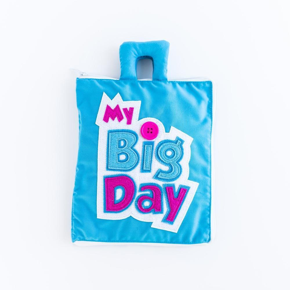 Fabric Quiet Activity Book - My Big Day - Curious Columbus - The Creative Toy Shop