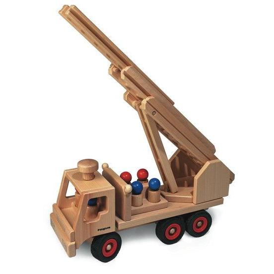 Fagus - Wooden Fire Engine-The Creative Toy Shop