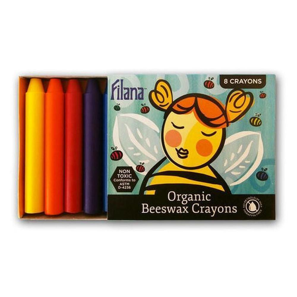 Filana 8 Stick Organic Crayons with Black & Brown - Filana - The Creative Toy Shop