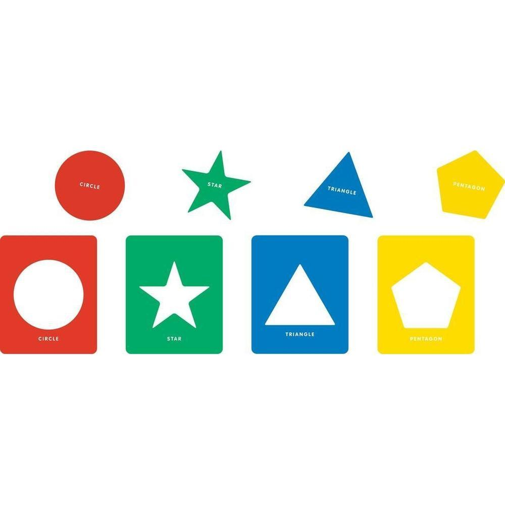 Geometric Stencils set of 12 - Educational Colours - The Creative Toy Shop