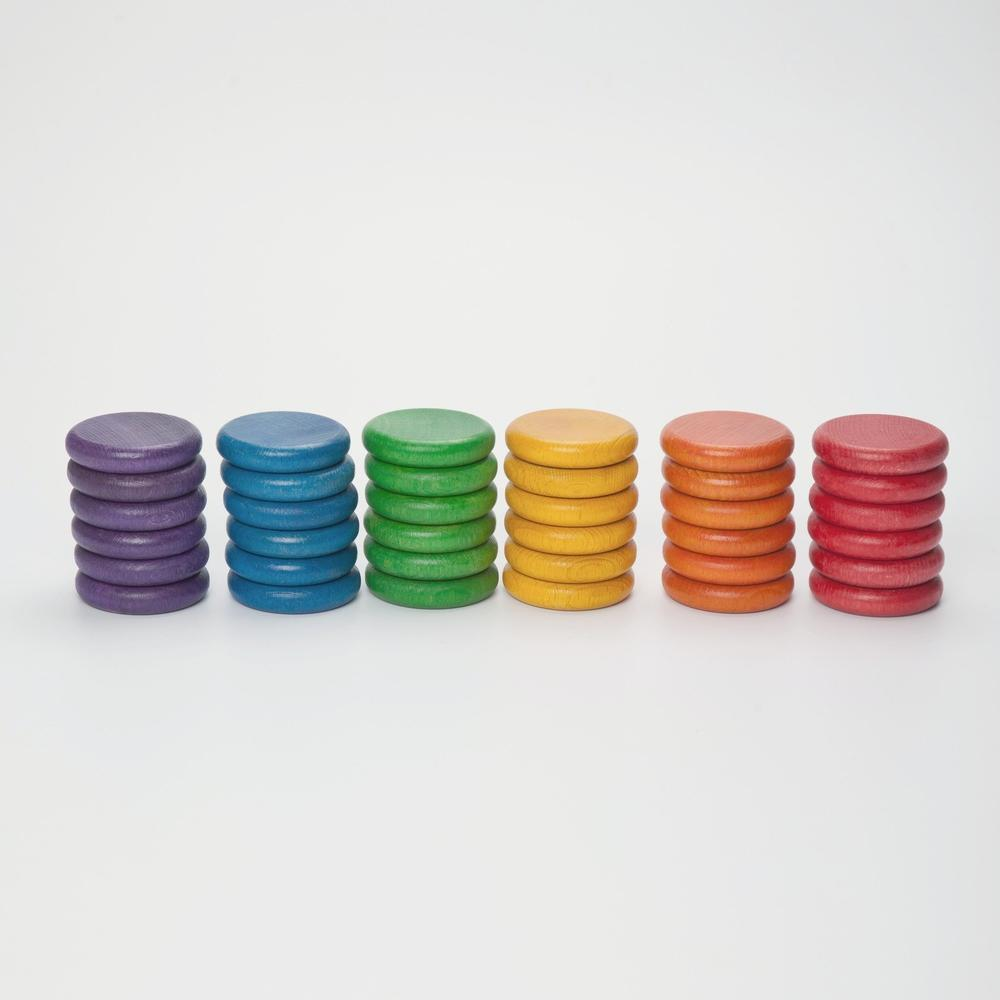 Grapat Coloured Coins set of 36 - Grapat - The Creative Toy Shop